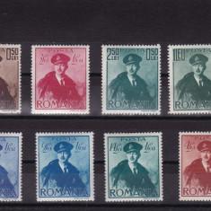 ROMANIA 1940, LP 138, CAROL II CU PELERINA SERIE MNH - Timbre Romania, Nestampilat