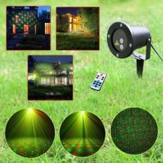 Laser pentru exterior cu senzor zi/noapte, telecomanda, timer ideal pt Craciun! - Instalatie electrica Craciun