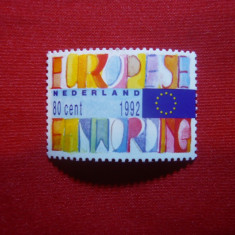 Serie Europa 1992 Olanda, 1 valoare - Timbre straine, Nestampilat