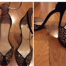 Sandale cu cristale - Sandale dama Zara, Culoare: Negru, Marime: 38