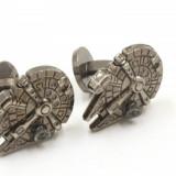 Butoni camasa Star Wars Millenium Falcon dark silver  + cutie cadou