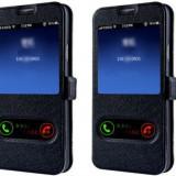 Husa SAMSUNG GALAXY S7 EDGE flip cover s view - Husa Telefon, Piele Ecologica