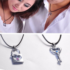Set 2x Pandantive Cuplu Lacat + Cheie Super OFERTA - Pandantiv fashion