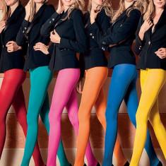 Ciorap Ciorapi Dres 20 Den Colorat Colorati Fluorescent Neon Yoga Stockings, Marime: S/M, Culoare: Alb, Albastru, Galben, Turcoaz