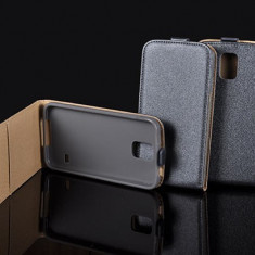 Husa Microsoft Lumia 640 XL Nokia Flip Case Slim Inchidere Magnetica Gri - Husa Telefon Nokia, Piele Ecologica, Cu clapeta, Toc