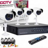 Sistem de securitate CCTV cu 4 camere, kit DVR, HDMI, intenet, infrarosu - Camera CCTV