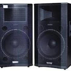Boxe active cu microfoane fara fir incluse, 400W, 7 benzi - Boxa activa