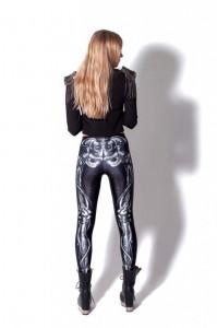 Colanti pantaloni leggings skelet schelet skull goth gotic rock
