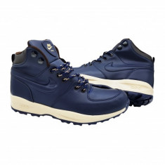 Ghete Nike Manoa - Ghete barbati Nike, Marime: 40, 41, 43, 44, Culoare: Bleumarin, Piele sintetica
