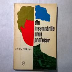 Virgil Rosala - Din insemnarile unui profesor