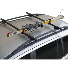 Suport auto pentru schiuri cu fixare pe barele transversale - Suport schiuri