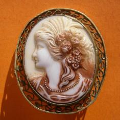 CAMEE VECHE DIN SCOICA - Brosa argint
