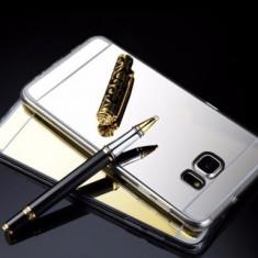 Husa Samsung Galaxy S6 Edge Plus TPU Ultra Thin Mirror Silver - Husa Telefon Samsung, Argintiu, Gel TPU, Fara snur, Carcasa