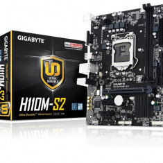 Placa de baza GIGABYTE Socket LGA1151, H110M-S2, Intel® H110 Express Chipset, 2*DDR4, 1*PCIEx16, 2*PCIEx1, 2133 MHz, 4*SATA 6Gb/s, 4*USB bulk, Altul, MicroATX
