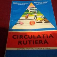 MANUAL CIRCULATIA RUTIERA CLASA VIII