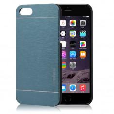 "Husa pelicula aluminiu dark grey MOTOMO Iphone 6 4,7"" + folie protectie ecran"