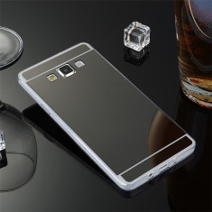 Husa Samsung Galaxy Grand Prime G530H TPU Mirror Neagra - Husa Telefon Samsung, Negru, Gel TPU, Fara snur, Carcasa