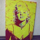 LA PRET FINAL Pictura art deco Marilyn Monroe ulei pe panza 50 x 70 cm - Pictor roman, An: 2016, Portrete, Art Nouveau