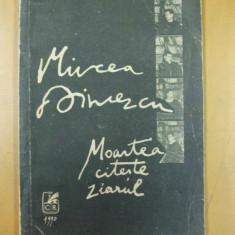 Mircea Dinescu Moartea citeste ziarul Bucuresti 1990 - Carte poezie