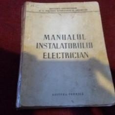 MANUALUL INSTALATORULUI ELECTRICIAN - Carti Electronica