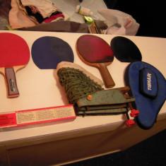 LOT: 2 palete ping pong KETHLER, ZENITH, mingi NITTAKU Japan, fileu, husa TIBHAR - Paleta ping pong
