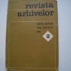 Revista arhivelor, anul XLVIII, vol. XXXIII, nr.2, 1971, Alta editura