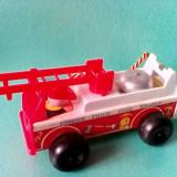 Bnk jc Masina de pompieri Fisher Price 1968 - Jucarie de colectie