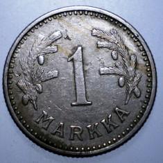 1.033 FINLANDA 1 MARKKA 1928, Europa, Cupru-Nichel