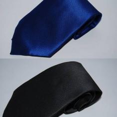 Cravata matase - diverse culori (NAVY BLUE; BLACK), Culoare: Albastru, Negru