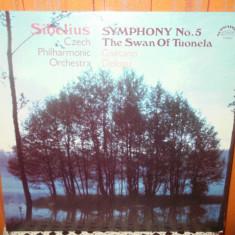 SIBELIUS - SYMPHONY NO.5 THE SWAN OF TUONELA - GAETANO DELOGU - ORCHESTRA CEHA - Muzica Clasica electrecord, VINIL
