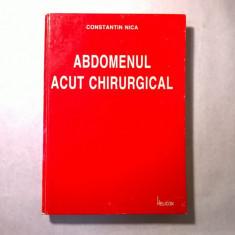 Constantin Nica - Abdomenul acut chirurgical