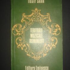IOSIF SAVA - TERITORII MUZICALE ROMANESTI - Carte Arta muzicala