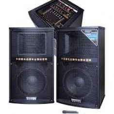 Boxe audio profesionale cu două microfoane fără fir, 700W - Boxa activa
