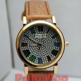 Ceas elegant de dama + cutie CADOU, model deosebit POZE REALE! - Ceas dama, Quartz, Piele ecologica, Analog, Nou