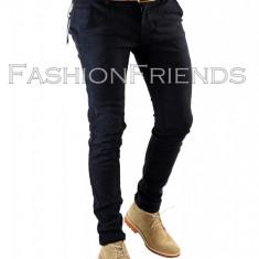 Pantaloni tip ZARA MAN bleumarin + o curea cadou - pantaloni barbati - 5619, Marime: 29, 30, 31, 32, 34, 36, Culoare: Din imagine