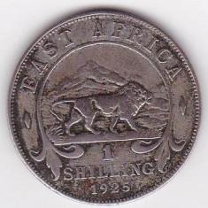 Africa de Est 1 Shilling 1925 - George V, Argint 7.78g/250, V9A, 27.8 mm KM-21