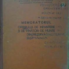 Memoratorul Ofiterului De Infanterie Si De Vanatori De Munte - Necunoscut, 388048 - Istorie