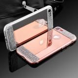 Cumpara ieftin Husa Silicon PREMIUM de LUX superslim oglinda cu pietricele IPhone 7 / 8
