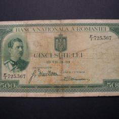 500 lei 1934 F/1 - Bancnota romaneasca