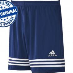 Pantalon barbat Adidas Entrada - pantaloni originali - Pantaloni barbati Adidas, Marime: L, Culoare: Albastru, Scurti, Poliester