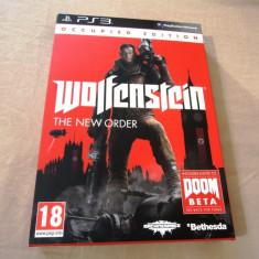 Wolfenstein the New Order Occupied Edition, PS3, original, alte sute de jocuri! - Jocuri PS3 Altele, Actiune, 18+, Single player