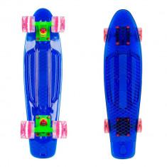 Penny board WORKER Transpy 400 22'' cu roti iluminate - Skateboard