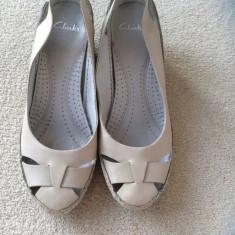 Pantofi piele naturala Clarks nr 6 talpa crep - Pantof dama Clarks, Culoare: Din imagine, Marime: 38