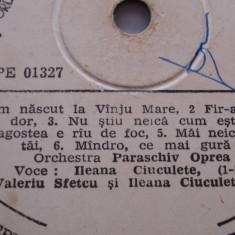 Disc vinil - Valeriu Sfetcu / Ileana Ciuculete - Muzica Populara