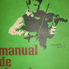 MANUAL DE VIOARA VOL.1/ AN 1979/227PAG= GEANTA - MANOLIU