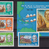 ROMANIA 1992 LP 1296 LP 1297 500 ANI DESCOPERIREA AMERICII SERIE+COLITA MNH - Timbre Romania, Nestampilat