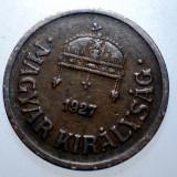 1.186 UNGARIA 2 FILLER 1927, Europa, Bronz