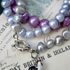Westwood Rocks bratari perle de cultura si argint - Bratara perle