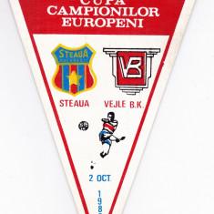 Fanion fotbal STEAUA BUCURESTI - VEJLE BK 02.10.1985 CCE