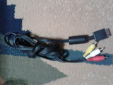 vand cablu video  pt PS2, PS1,PS3,PLAYSTATION 2 ,original cu iesire av RCA